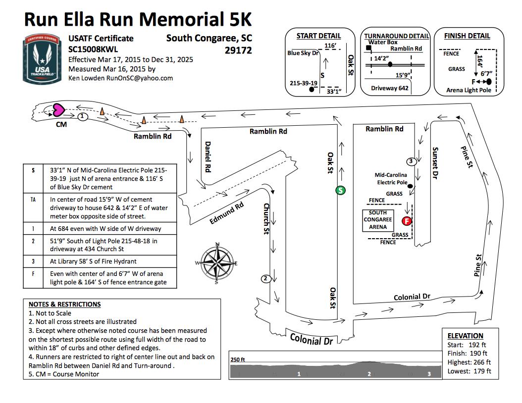 RERM5K race route